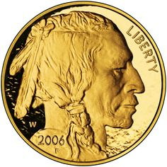 1 oz Gold Buffalo The first pure gold coin minted by the United States, created to compete in the gold market. The coin's design is based on the original Indian Head Buffalo nickel of Typical pricing is USD over spot for the Gold Bullion Bars, Bullion Coins, Silver Bullion, Wiccan Magic, American Coins, Native American, Gold And Silver Coins, Gold Stock, Proof Coins