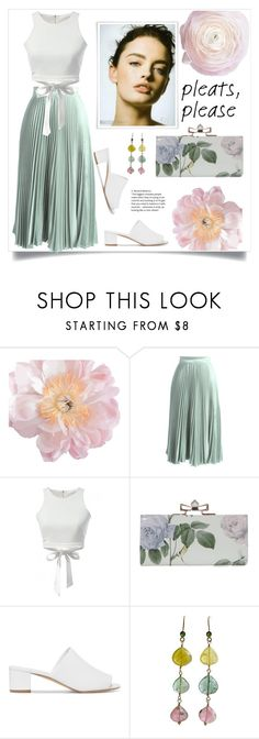 """Pleats please"" by natalyapril1976 ❤ liked on Polyvore featuring Chicwish, Mansur Gavriel and Karen Sugarman Designs"