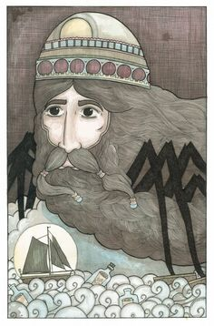Man in the clouds FREE SHIPPING by patricbates on Etsy, $15.00