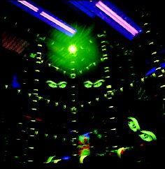 3 level laser tag arena installed at a family entertainment center.