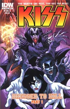 You Wanted the Best, You Got the Best! KISS is back in an all-new comic series that will appeal to longtime fans and new readers alike! Four ordinary humans in 1920s Chicago find themselves caught up in a battle of epic proportions that will reverberate across time and space in 'Dressed to Kill,' part 1!