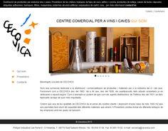 Web per distribuidora de productes per elaborar vins i caves | www.cecovica.com