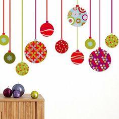 Stickers en forme de boules de Noël