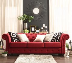 Get your red on! Instead of using accent colors on small items in the room, make your accent color the primary object of your room. ‪#‎red‬ ‪#‎homedecor‬ ‪#‎interiordesign‬ ‪#‎livingroom‬ ‪#‎couch‬ ‪#‎sofa‬