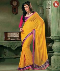 Khazana Yellow Trendy Heavy Embroidered Saree    http://www.snapdeal.com/product/khazana-yellow-trendy-heavy-embroidered/87700?utm_source=Fbpost_campaign=Delhi_content=198179_medium=190912_term=Prod  Aptly designed for a party look this designer saree is a fabulous combination of grace and style. Aesthetically designed with rich prints in vibrant colours it gives a smart look to carry.