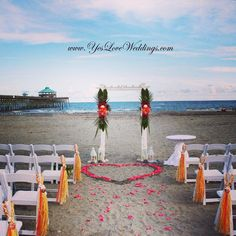 Folly Beach Charleston Sc Tybee Island Savannah Ga Hilton Head Wedding Arch With Tropical Flowers Decor Pinterest