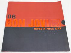 Bon Jovi 2006 Have A Nice Day Concert Tour Program Art Photo Book