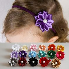US $0.42 - High Quality Cute Polygonal Cloth Flowers With Artificial Pearl Headband For Baby Girls Kids Thin Hair Band 17 Colors BB-204 - Aliexpress: Click to find more --> http://s.click.aliexpress.com/e/UByNbIA2J