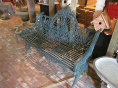 Beautiful  vintage cast iron bench