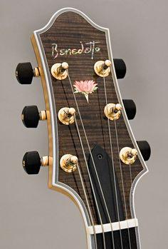 lotus headstock-Benedetto Guitars