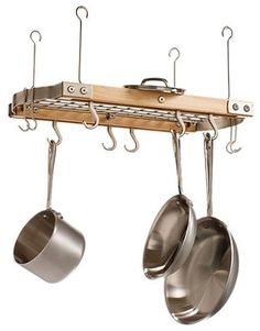 Small Maple Ceiling Pot Rack - modern - pot racks - Crate