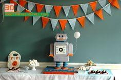 Robot Birthday Party - Links to 30 awesome boy's robot birthday parties