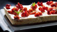 Bakt ostekake med rømmelokk