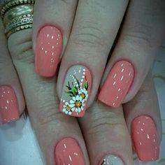 Short Nail Bed, Short Nails, Nail Spa, Manicure And Pedicure, Pedicures, Pink Gel Nails, Flower Nail Art, Acrylic Nail Art, Creative Nails