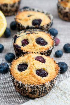 Paleo Lemon Blueberry Muffins #paleo #blueberry #muffins #breakfast