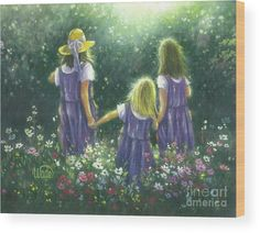 Three Sisters Forever Friends Wood Print by Vickie Wade. All wood prints are professionally printed, packaged, and shipped within 3 - 4 business days and delivered ready-to-hang on your wall. Choose from multiple sizes and mounting options.