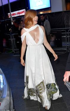 Elegant: Amy glided into the event looking graceful and composed ...