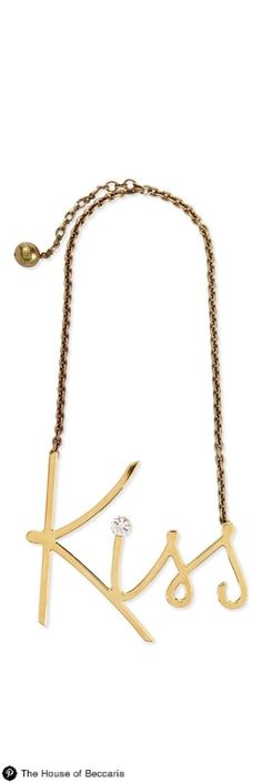 ~Say it with Lanvin's 2014 Golden Kiss Necklace ($1185) | House of Beccaria#