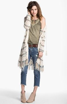 Free People 'Sunblock' Mesh Knit Cardigan available at #Nordstrom - I need to figure out how to make this