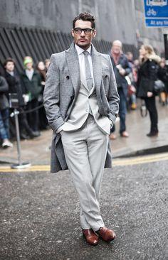 mr gandy // #davidgandy #suit #topcoat #menswear #style