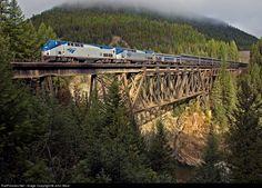 Amtrak - Empire Builder traveling through Glacier National Park near Izaak Walton Inn. DID IT!