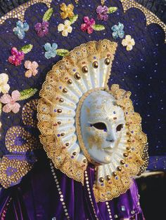 Venetian Carnival Costumes | Person Wearing Masked Carnival Costume, Venice Carnival, Venice ...