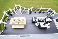 Our Backyard Deck Reveal (with AZEK Building Products) Building Design Plan, Building A Deck, House Building, Building Ideas, Cool Deck, Diy Deck, Backyard Decks, Synthetic Decking, Laying Decking