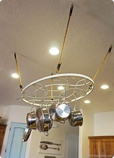 DIY Kitchen: DIY Home: DIY Tutorial: Affordable Pot Rack