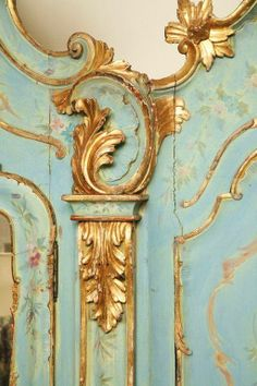 19th Century Venetian Painted Armoire