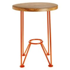 Smithy Stool - I love the vibrant orange of these quirky stools that can be used as a fun side table or stool.