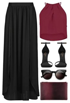 """#879"" by anna-annita ❤ liked on Polyvore featuring Boohoo, Whistles, MANGO and Yves Saint Laurent"