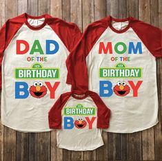 Elmo birthday shirt elmo birthday party elmo theme party elmo family shirtselmo mom elmo dad sesame street birthday sesame shirt - Birthday Shirts - Ideas of Birthday Shirts - Elmo birthday shirt elmo birthday party elmo theme party Elmo First Birthday, Boys 1st Birthday Party Ideas, Baby Birthday, Birthday Shirts, Birthday Crafts, Birthday Decorations, Sesame Street Party, Sesame Street Birthday Party Ideas, Elmo Party