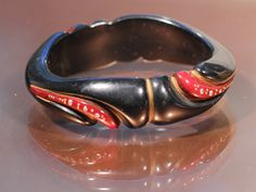 Beautiful Art Deco Bakelite Bangle French 1930 Collectibles by ThisisParis on Etsy https://www.etsy.com/listing/198707529/beautiful-art-deco-bakelite-bangle