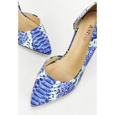 SALE Gorgeous Blue Snakeprint Pumps Like new, worn once to work. Gorgeous bright blue tones & snakeprint. Selling because I have too many blue heels. They're true to size. I paid full price for these so price is firm. No trades! JustFab Shoes Heels