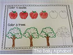 The Daily Alphabet: Fall Math Journals for Kindergarten Preschool Social Studies, Preschool Math, Math Classroom, Teaching Math, Math Activities, Educational Activities, Teaching Tips, Math Games, Interactive Math Journals