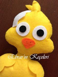 let's make a little chick with felt. / keçe ile minik bir ördek yapmayı kim ister?