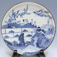 Ko-Imari dish of purchase antiques Tenpyodo Japanese Porcelain, Japanese Ceramics, White Porcelain, Antique Plates, Vintage Dinnerware, Blue China, Antiquities, Elephant, Chinese