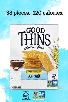 With 120 calories in 38 pieces, GOOD THINS sea salt Corn Snacks are the delicious snack that is great for munching! GOOD THINS have no artificial flavors, colors and do not contain any high fructose corn syrup. They are non-GMO Project verified and gluten free certified by GFCO. Discover all flavors at Amazon.com Corn Snacks, Yummy Snacks, Healthy Snacks, Healthy Eating, Healthy Drinks, Clean Eating, Healthy Tips, Healthy Choices, Healthy Recipes