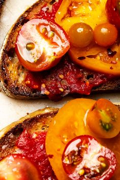 NYT Cooking: Some version of tomatoes on toast — a juicy American B.L.T. or Italian tomato-topped bruschetta — is always a good idea, but that's especially true during high summer, when tomatoes are at their peak. One superior combination comes from Barcelona, where a slice of toast is rubbed with garlic and juicy ripe tomatoes, then anointed with olive oil. Most Catalan cooks simply cut the tomato crosswis...
