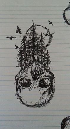 Easy Drawings, Pencil Drawings, Basic Meditation, Nordic Tattoo, Flower Skull, Viking Tattoos, Skull Art, Life Tattoos, Dark Art