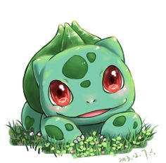 This Bulbasaur is almost perfect for what I have in mind for my tattoo Pokemon Go, Pokemon Bulbasaur, Pokemon Fan Art, Grass Type Pokemon, Anime Chibi, Kawaii Anime, Pokemon Mignon, Pokemon Tattoo, Cute Pokemon Wallpaper
