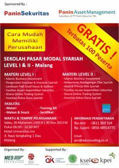 """""""Seminar Cara Mudah Memiliki Perusahaan+Pasar Modal Syariah"""""""