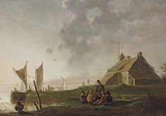 Albert Cuyp - Een bewakershuis aan een rivier