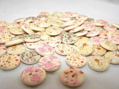 50 Painted Wooden Buttons, starting at $5.