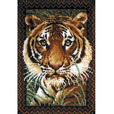 I want this....I've already done the Lion & the leopard of the same collection  @Overstock - Wonderart Tiger needlework kit is a great gift, in kit or as finished wall hangingKit includes pre-cut rug yarn for quick and easy stitchingLatch hook kit makes wonderful decor for your homehttp://www.overstock.com/Crafts-Sewing/Wonderart-Tiger-Latch-Hook-Kit/3318982/product.html?CID=214117 $25.76