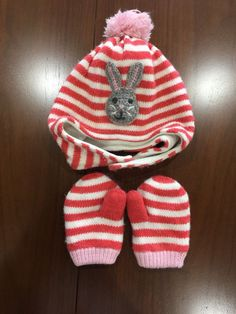 99672bdfdf6 Baby Boden Hat And Mitten Set Size 12-24 Months  fashion  clothing