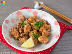 Easy recipe for Japanese-style fried chicken. The ingredients are cheap and you can make more for less buck at home.
