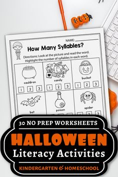 These kindergarten literacy worksheets for kindergarten were a great addition in my classroom. The set includes kindergarten sight words, cvc word worksheets, alphabet activities, and more. The kindergarten printables are so fun and include so many cute graphics, just like a game. The Halloween printables activities can be used during homeschool, or in the classroom for kindergarten and first grade students. #kindergartenclassroom #halloweenactivities Literacy Worksheets, Kindergarten Worksheets, Kindergarten Activities, Learning Activities, Teaching Ideas, Monster Activities, Free Worksheets, Classroom Activities, Teaching Resources