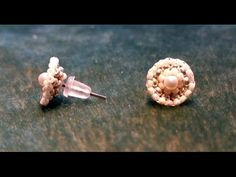 Beading4perfetionists : Classic pearl earring studs beading tutorial - YouTube