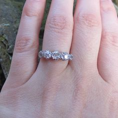 Late Victorian Diamond Ring. Graduated Five Stone Wedding Band, Engagement Ring.. £785.00, via Etsy.